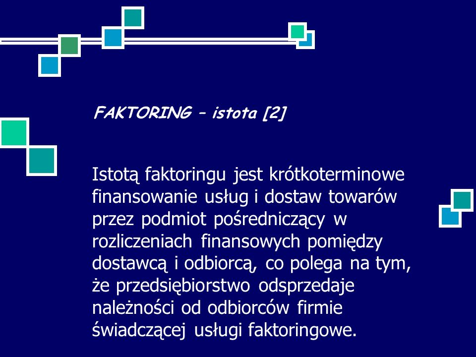 FAKTORING – istota [2]